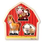 MD Barnyard Animals Jumbo Knob Puzzle - 3 Pieces image