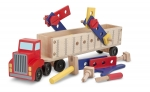 MD Big Rig Building Truck Wooden Play Set image