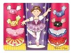 MD Ballerina Dress-Up Mix 'n Match Peg Puzzle - 10 Pieces image