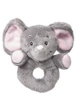 My Teddy Elephant mjúk hringla, bleik image