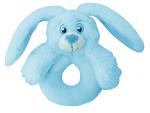 My Teddy Baby Bunny mjúk hringla, blá  image