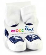 XKKO Mocc Ons sokkaskór, 12-18m, bláir strigaskór image