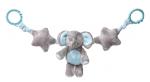 My Teddy Elephant mjúk keðja til að hengja á bílstóla og kerrur, blá image