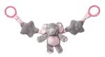 My Teddy Elephant mjúk keðja til að hengja á bílstóla og kerrur, bleik image