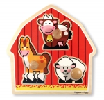MD Barnyard Animals Jumbo Knob Puzzle - 3 Pieces image