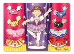 MD Ballerina Dress-Up Mix 'n Match Peg Puzzle - 10 Pieces image