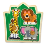 MD Jungle Friends Jumbo Knob Puzzle - 3 Pieces image