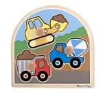 MD Construction Site Jumbo Knob Puzzle - 3 pieces image