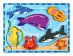 MD Sea Creatures Chunky Puzzle - 7 Pieces image