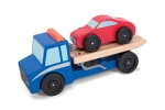 MD Flatbed Tow Truck Wooden Toy Set image