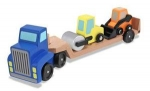 MD Low Loader Wooden Vehicles Play Set image