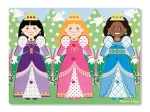 MD Dress-Up Princesses Peg Puzzle - 9 Pieces image