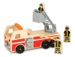 MD Classic Wooden Fire Truck Play Set image