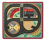 MD Round the Speedway Race Track Rug & Car Set image