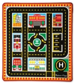 MD Round The City Rescue Rug & Vehicle Set image