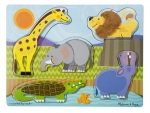 MD Zoo Animals Touch And Feel Puzzle image