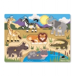 MD Safari Peg Puzzle - 7 Pieces image