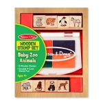 MD Wooden Stamp Set - Baby Zoo Animals image
