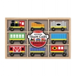 MD Wooden Train Cars, lestarvagnar image