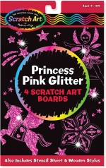 MD Scratch Art, Princess Pink Glitter image